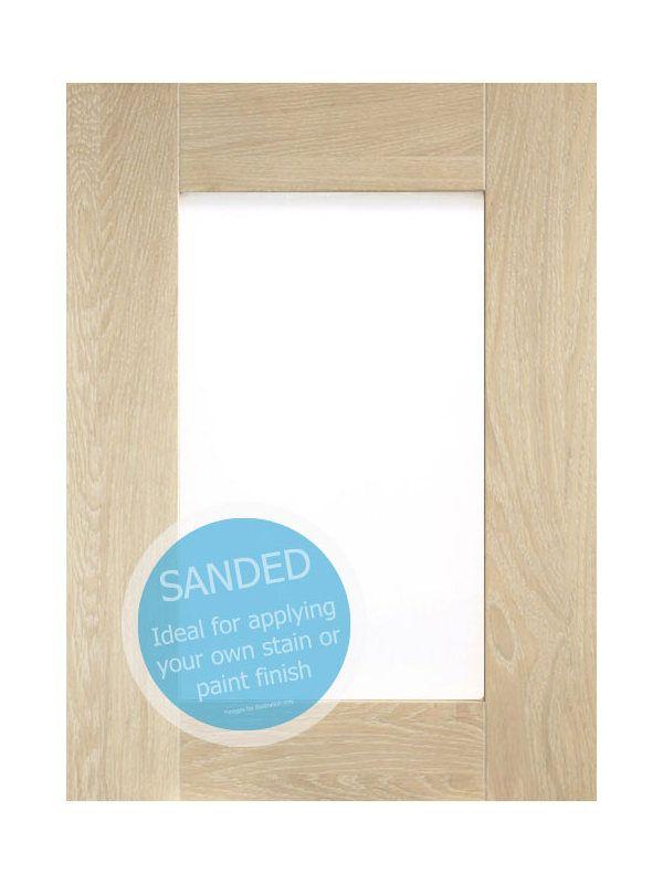 715x397mm, clear glazed Broadoak Sanded Feature Door