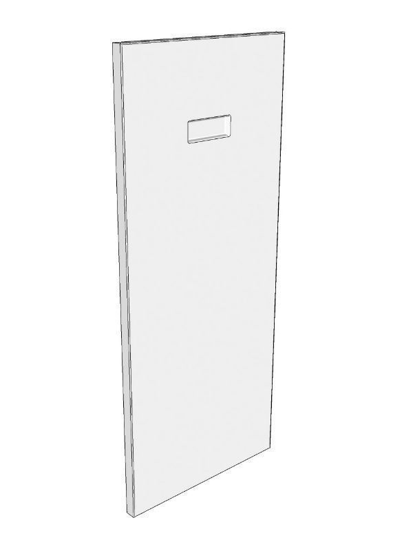Fitzroy Partridge Grey Corbel back panel, 700x300x18mm