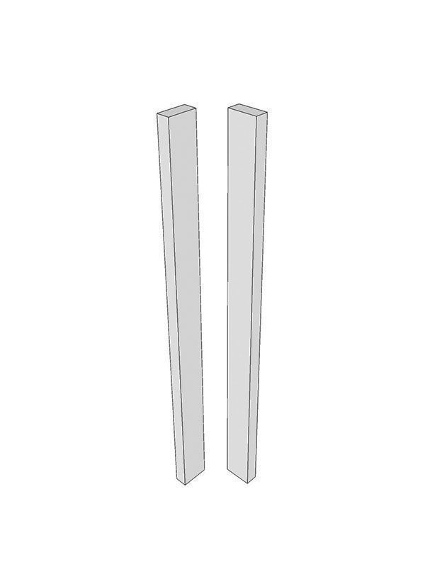 Remo Gloss Dove Grey Corner post, 715x70x22mm - slab with out handle profile