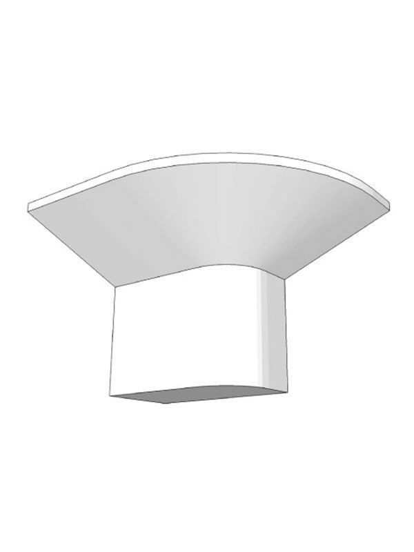 Broadoak Paint To Order Cornice corner block, left hand, 135x180x37mm