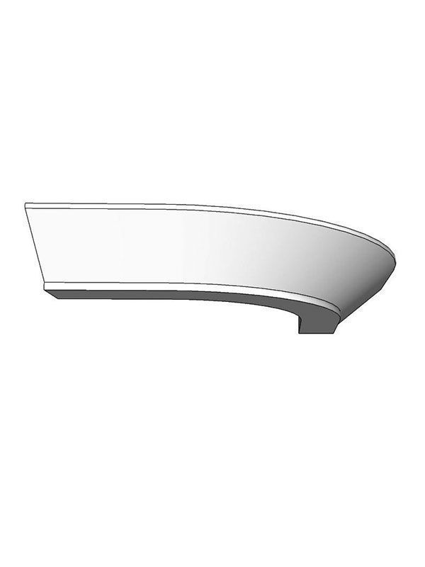 Milbourne Porcelain Curved cornice section 350 x 350mm