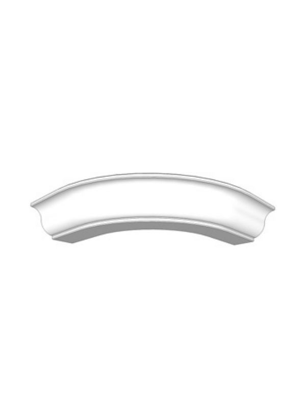 Mornington Beaded Porcelain Curved cornice section for 300mm wall cabinet