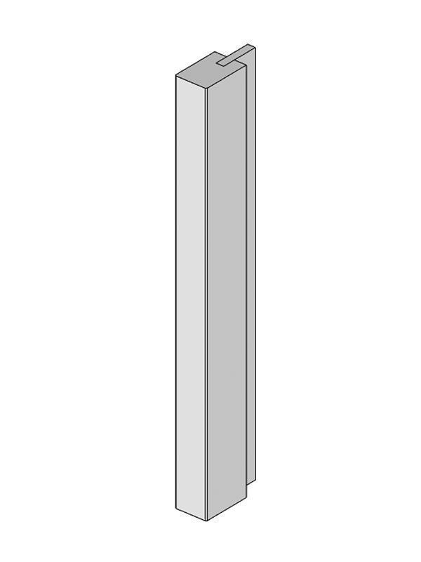 Milbourne Chalk Tall feature end post 2400x75x50mm