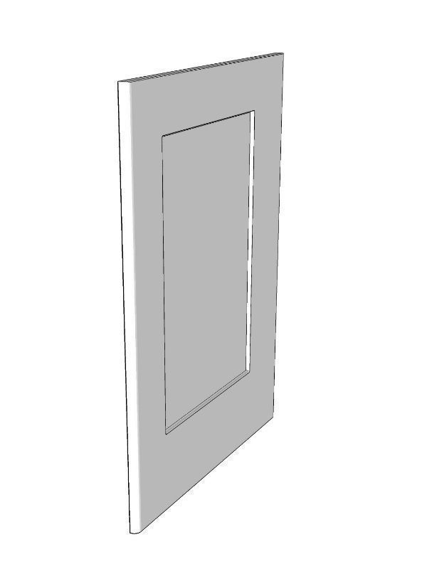 Fitzroy Partridge Grey Base framed end panel, 895x605x18mm