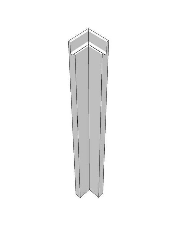 Remo Gloss Dove Grey Pre-assembled base Corner Post 715x70x70mm