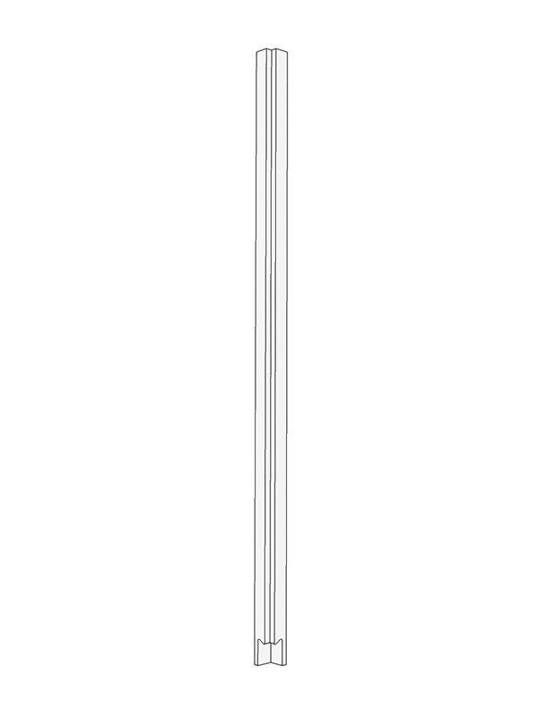 Remo Gloss Dove Grey Pre-assembled wall Corner Post 715x26x26mm