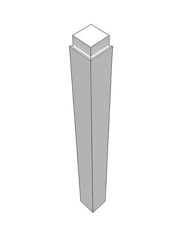 Remo Gloss Dove Grey External corner post, 900x75x75mm