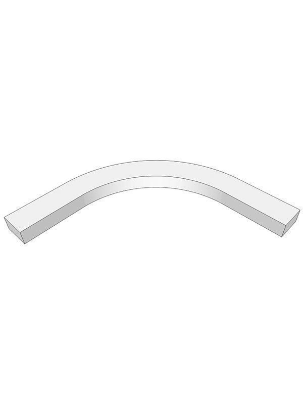 Remo Gloss White Internal curved cornice section for 600mm wall cabinet