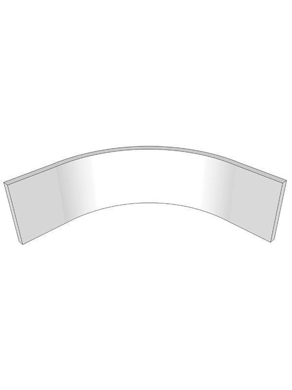 Remo Matt Paint To Order Internal curved plinth section for 900mm base unit