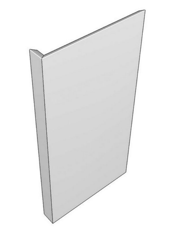 Tomba Gloss Paint To Order Base feature end panel, L-shaped design 900x650x49.5mm, left hand