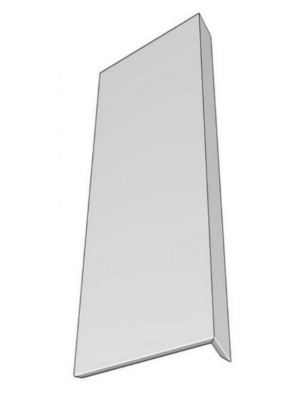 Tomba Gloss Paint To Order Wall feature end panel, L-shaped design, 950x350x49.5mm