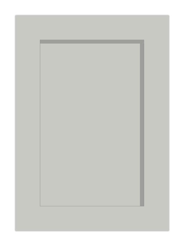 1245x297mm Mornington Shaker Dove Grey Door