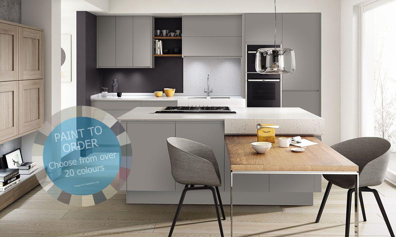 Remo Matt Paint To Order 800mm Larder Unit 1970mm High   DIY Kitchens 4 U