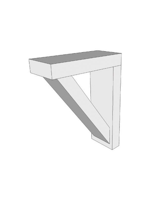 Fitzroy Partridge Grey Feature shelf bracket, 137x190x50mm