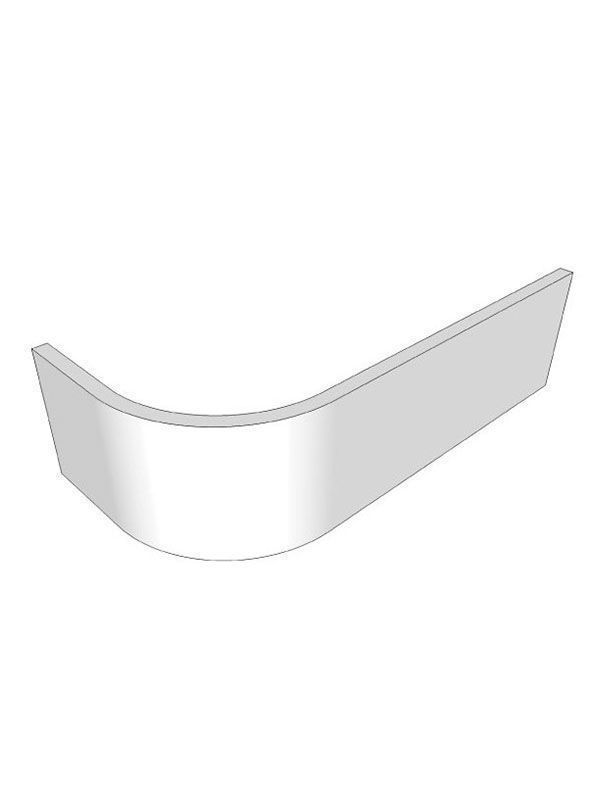 Porter Gloss Cashmere Curved plinth section for the small curved door 530x150x16mm