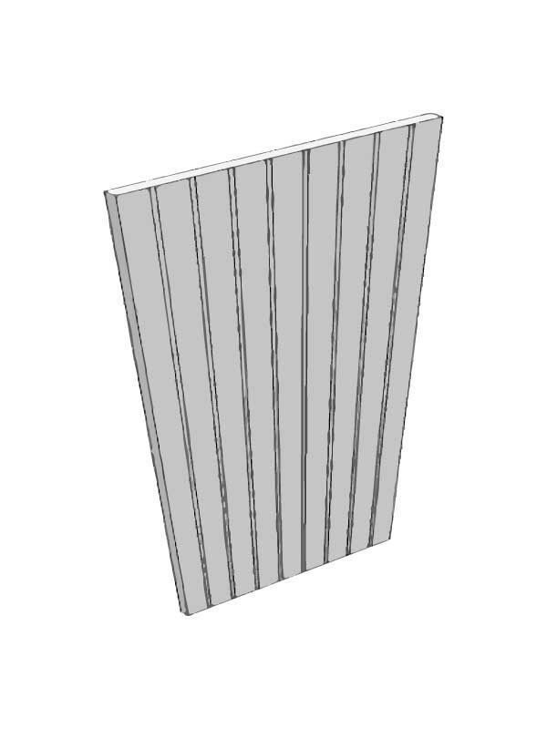 Broadoak Partridge Grey End panel, T&G, 900x650x18mm