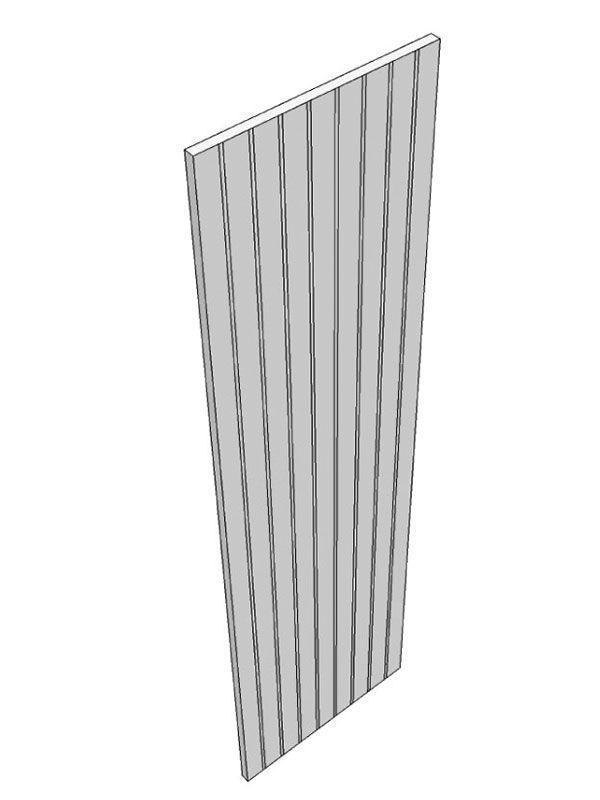 Milbourne Chalk End panel with profiles front edge 2400x610x18mm, T&G