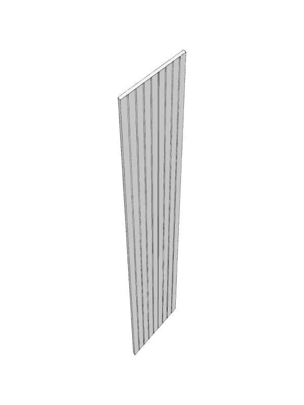Broadoak Partridge Grey Tall end panel, T&G, 954x370x18mm