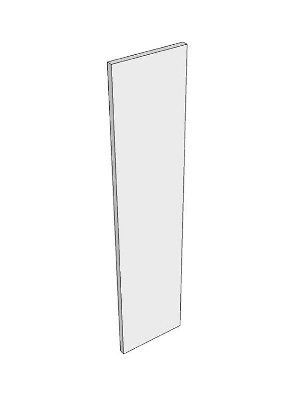 Porter Gloss Dove Grey Tall end panel, 960x370x18mm